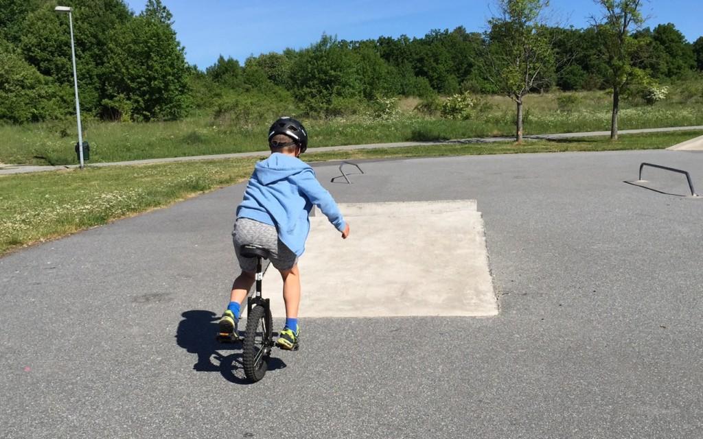 Calle på enhjuling